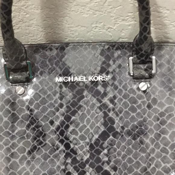 Michael Kors Handbags - MK Selma Large Python Snake Embossed LeathrSatchel